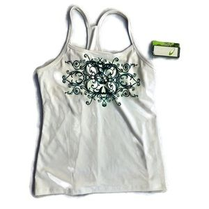 TEK GEAR Yoga Tank Top Floral Racerback Shirt